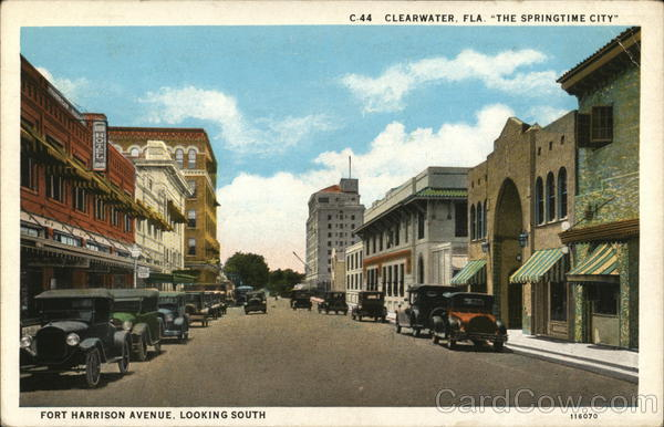 Fort Harrison Avenue Looking South Clearwater Florida