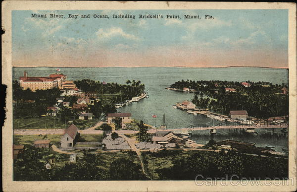 Miami River, Bay and Ocean, including Brickell's Point Florida
