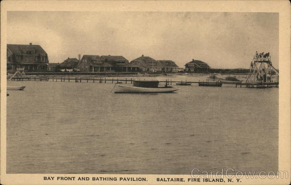 Bay Front and Bathing Pavilion, Saltaire Fire Island New York