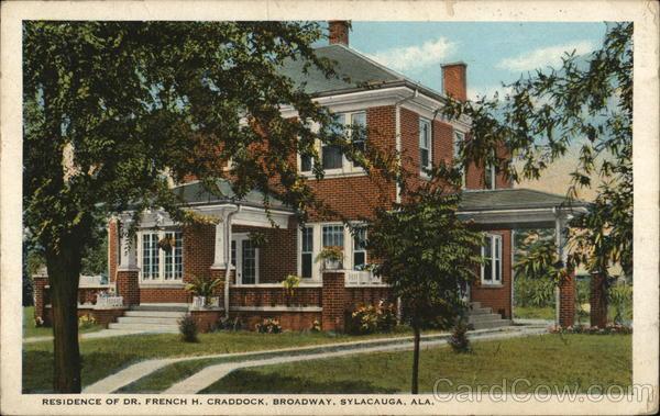 Residence of Dr. French H. Chaddock, Broadway Sylacauga Alabama
