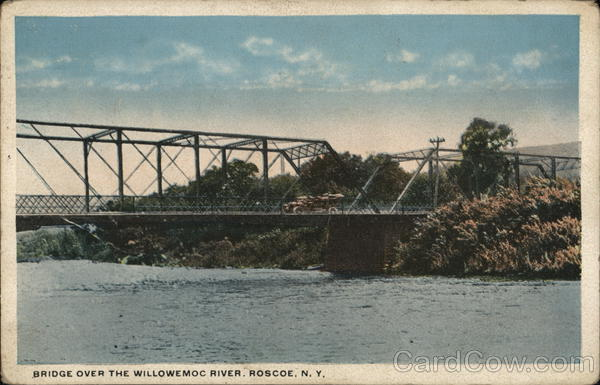 Bridge over the Willowemoc River Roscoe New York