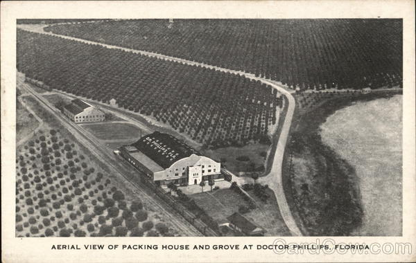 Aerial View of Packing House and Grove Doctor Phillips Florida