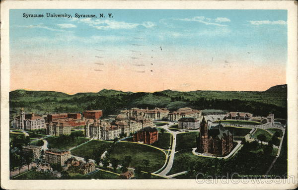 Birds Eye View of University Syracuse New York
