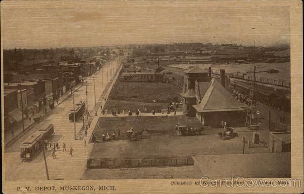 View of P.M. Depot Muskegon Michigan