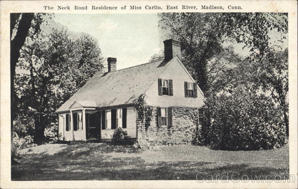 Neck Road Residence of Miss Carlin, East River Madison Connecticut