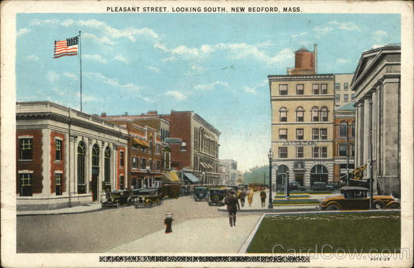 Pleasant Street Looking South New Bedford Massachusetts