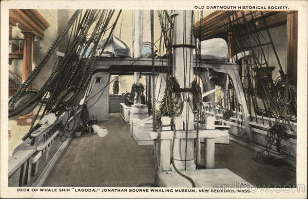 Jonathan Bourne Whaling Museum - Deck of Whale Ship Lagoda New Bedford Massachusetts