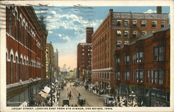Locust Street, Looking East From 6th Avenue