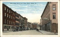 Main Street North from Green Street Postcard
