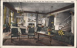 Lobby, Santa Lucia Inn, 1/2 Mile North of Salinas, on the Coast Highway, California