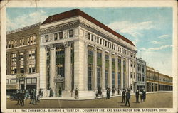 Commercial Banking & Trust Co., Columbus Ave. and Washington Row Postcard