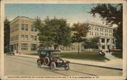 Davis Park, Showing Day & Night Bank Building and Y.M.C.A.