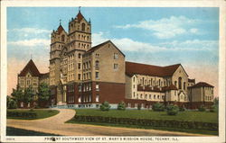 Present Southwest View of St. Mary's Mission House Postcard