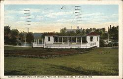 Band Stand and Open Air Dancing Pavilion, Mitchell Park Postcard