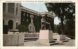 University of Wisconsin - Lincoln Monument at Entrance to Bascom Hall