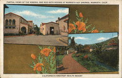 Partial Views of the Mineral and Mud Bath Houses at Murrieta Hot Springs