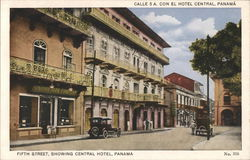 Pine Street showing Central Hotel