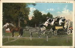 Coaching Party Golf Club Postcard