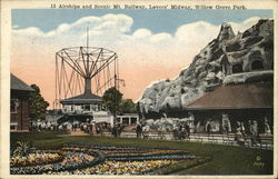 Airships and Scenic Mt. Railway, Lovers Midway, Willow Grove Park