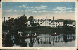 Scene on Lake Showing Campbell's Inn