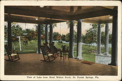 View of Lake from Hotel Walton Porch