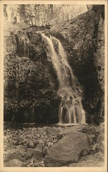 View of Hemlock Falls, South Mountain Reservation Postcard