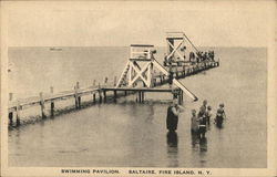 Swimming Pavilion, Saltaire Postcard