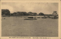Bay Front and Bathing Pavilion, Saltaire Postcard