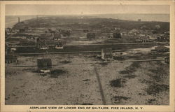 Airplane View of Lower End Postcard