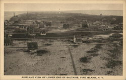 Airplane View of Lower End of Saltaire Postcard