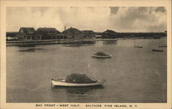 Bay Front - West Half, Saltaire Postcard