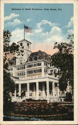 Entrance to Hotel Poinciana Postcard
