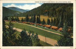 Cabins at Karst's Dude Ranch Postcard