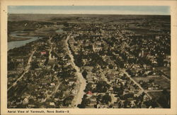 Aerial View of Yarmouth, Nova Scotia