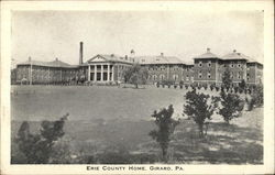 Erie County Home Girard, PA Postcard