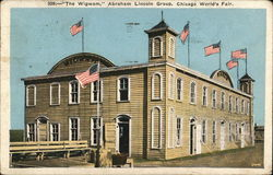 The Wigwam, Abraham Lincoln Group Postcard