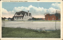 U.S.M.A.A. Tennis Courts Postcard