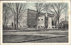 View of Hand's School Postcard
