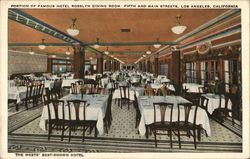 Portion of Famous Hotel Roselyn Dining Room, Fifth and Main Streets