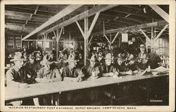 Interior Restaurant Post Exchange, Depot Brigade, Camp Devens