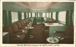 Luxurious Observation Lounge on the North Coast Limited