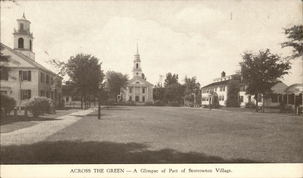 Across the Green - A Glimpse of Par of Storrowtown Village West Springfield Massachusetts