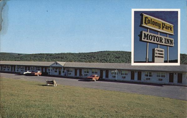 Colony Park Motor Inn Pine Grove Pennsylvania