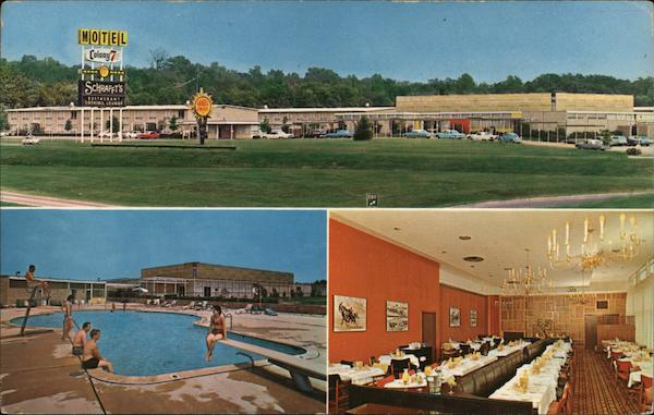 Colony 7 Motor Inn (three views) Baltimore Maryland