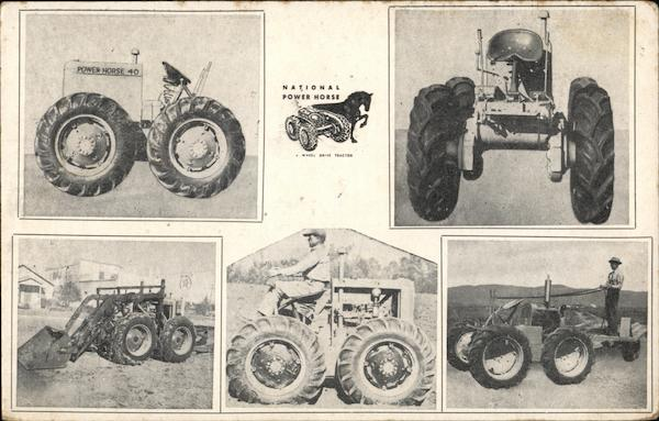 National Implement Co. - Power Horse 40-4 Tractor Advertising