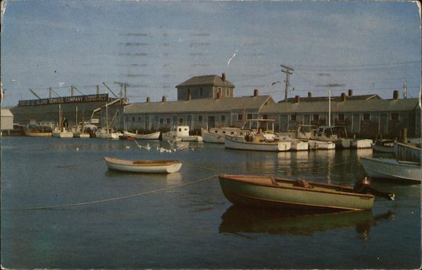Scallop Fleet at Dock Nantucket Massachusetts