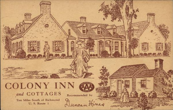 Colony Inn and Cottages Richmond Virginia