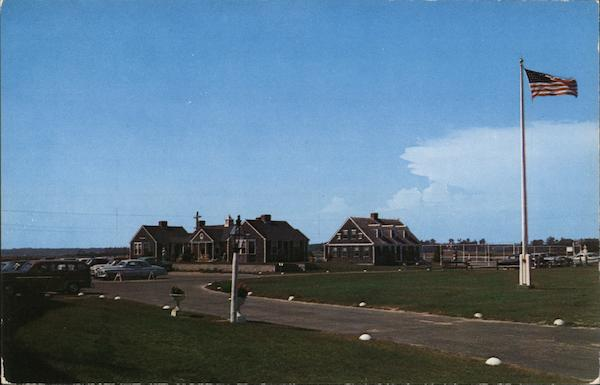 Breezeway Cottages, Lodge and Tennis Court at the Lighthouse Inn, Cape Cod West Dennis Massachusetts