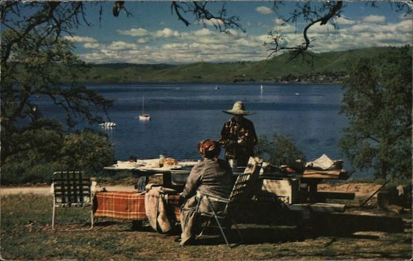 Millerton lake picnic friant ca postcard for Millerton lake fishing