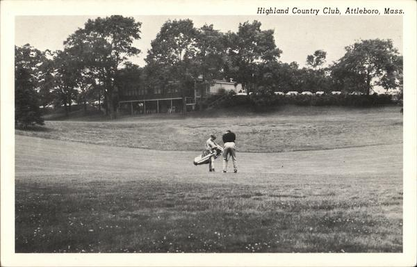 Player and Caddie, Highland Country Club Attleboro Massachusetts